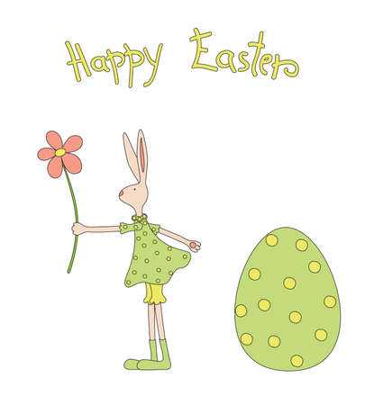 Hand drawn elements for Easter