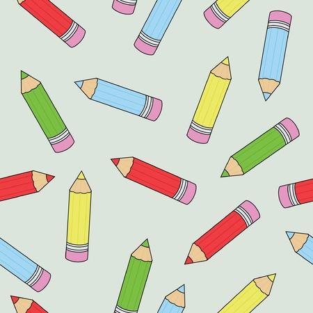 Patrón de fondo transparente con lápices de colores Foto de archivo - 9410507