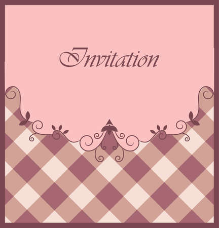checked: Nice purple invitation with ornamental elements