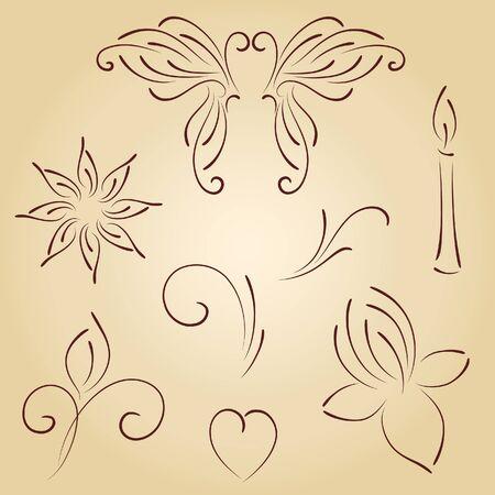 lettre de feu: Vecteur ornements Illustration
