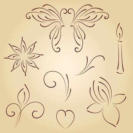 hand drawn flower: Vector ornaments