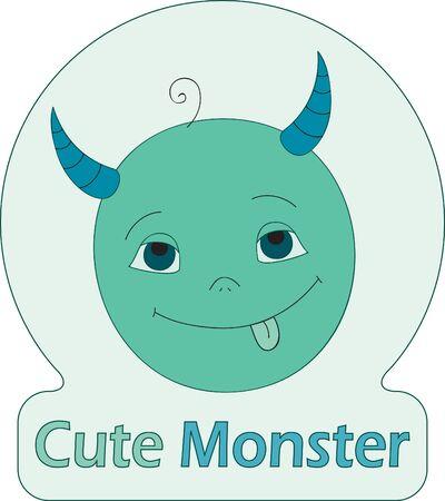 Cute Monster. Creative symbol