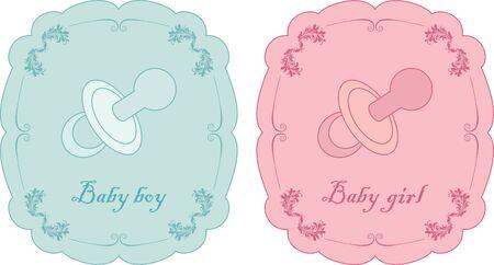 Vector illustration of baby card Vector