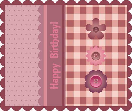 checked: Birthday card Illustration