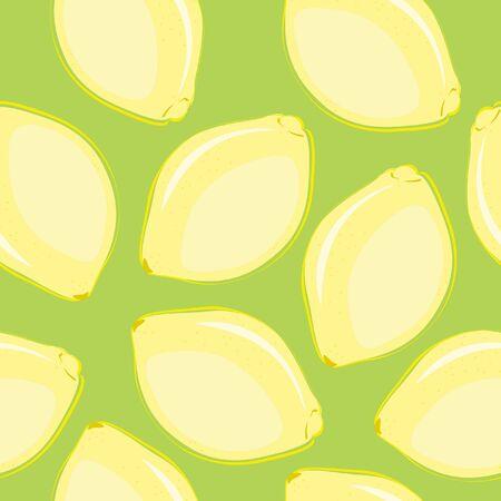 Senza soluzione di continuità per il desktop con limoni disegnati a mano Archivio Fotografico - 9580382