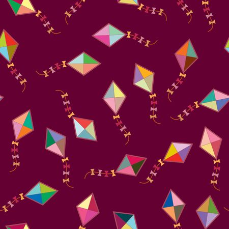 Seamless wallpaper with kite Vector