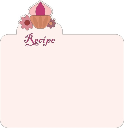 Nice blank paper for recipe Stock Vector - 9692163