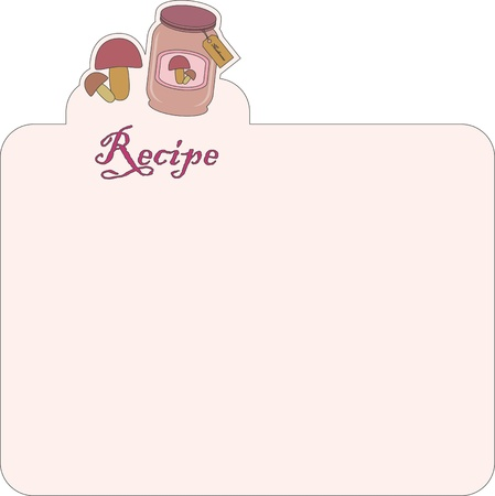 recipe card: Nice blank paper for recipe