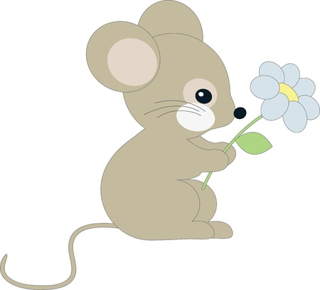 florecitas: Lindo ratoncito Vectores