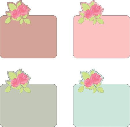 Nice blank papers with roses Vector