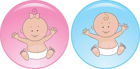 diaper baby: Sign baby boy and girl