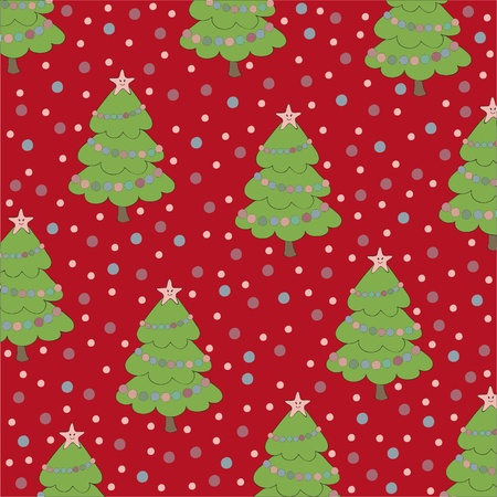 Christmas seamless background with hand drawn elements Vector