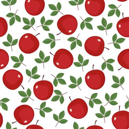 color image creativity: Fondo transparente con manzanas rojas y hojas verdes