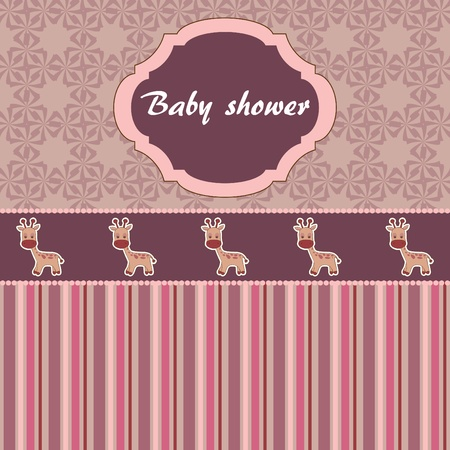 Baby shower card Stock Vector - 10799259