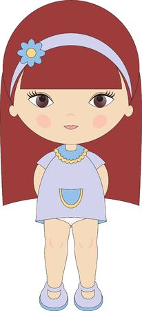 headband: Little girl Illustration