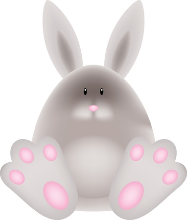 Cute gray bunny