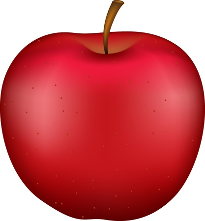 apple red: 3D apple Illustration