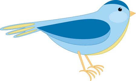 simple: Bird illustration, isolated Illustration
