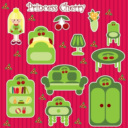 furniture: Princess Cherry furniture set