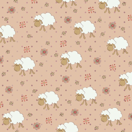 Seamless child's wallpaper Stock Vector - 11160223