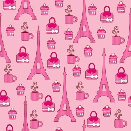 Pink bright wallpaper. Paris