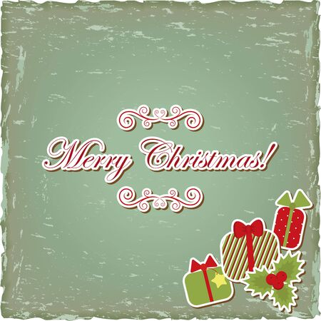 Vintage paper with seasonal greeting Vector