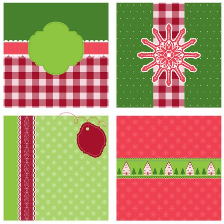 Four nice Christmas backgrounds Vector
