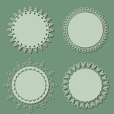 Blank round vintage frames Vector