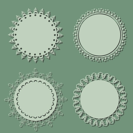 Blank round vintage frames Stock Vector - 11529672