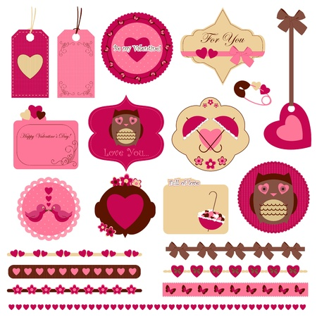Digital scrapbooking Vector