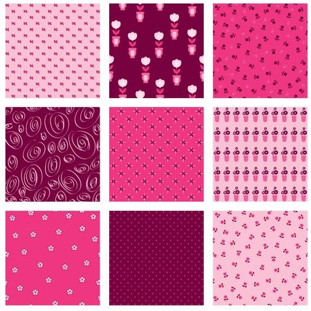 Nine pink floral backdrops