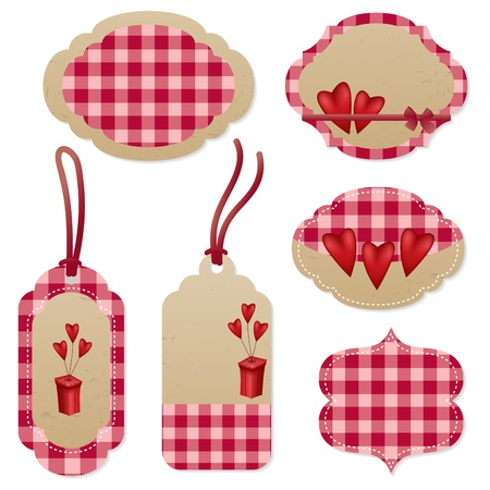 Nice red tags for Valentine's Day Stock Vector - 11529680