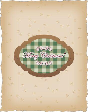 Vintage card with seasonal greetings