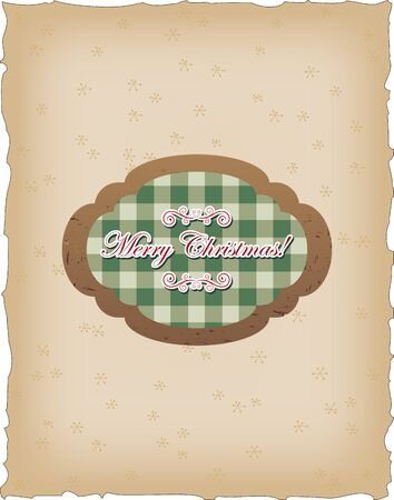 Vintage card with seasonal greetings Vector