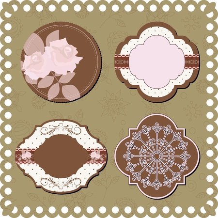 scrapbooking: Vintage stickers