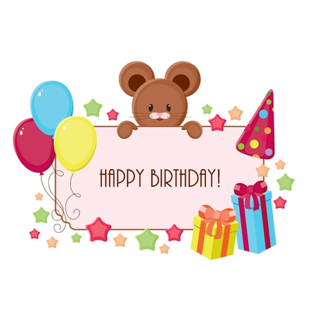 best wishes: Birthday card Illustration