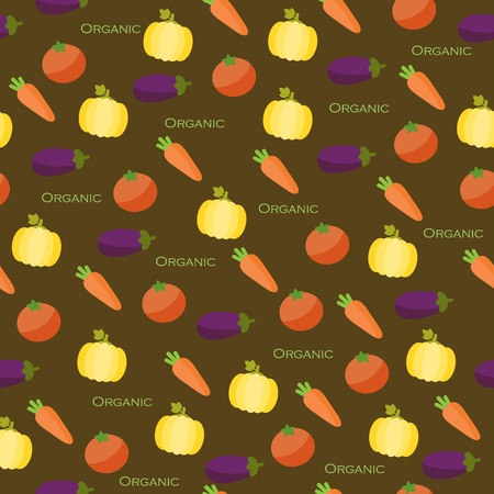 Seamless vegetables wallpaper