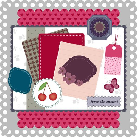 Scrapbooking collection. Vector illustration Stok Fotoğraf - 11958592