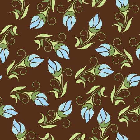 brown background: Seamless floral wallpaper