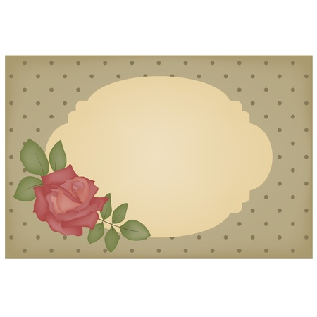digital: Vintage card with empty frame