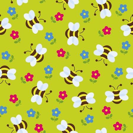 Seamless cute wallpaper Illustration