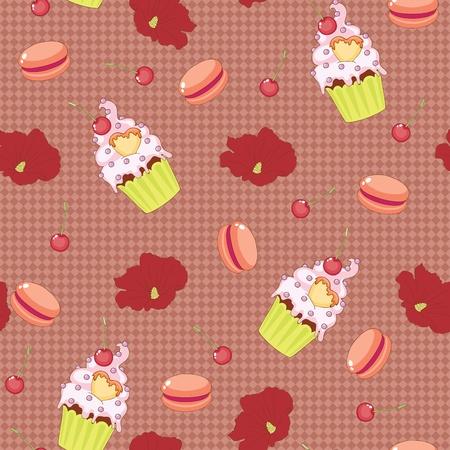 macaron: Nahtlose Hintergrund. S��igkeiten