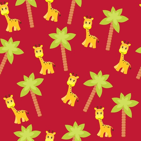 Seamless kids wallpaper Vector
