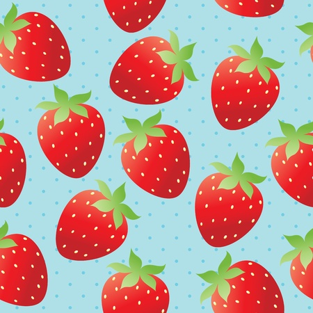 Bright strawberry wallpaper Stock Vector - 12065405