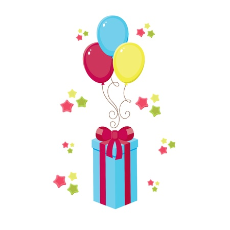 detail invitation: Birthday elements, isolated template Illustration