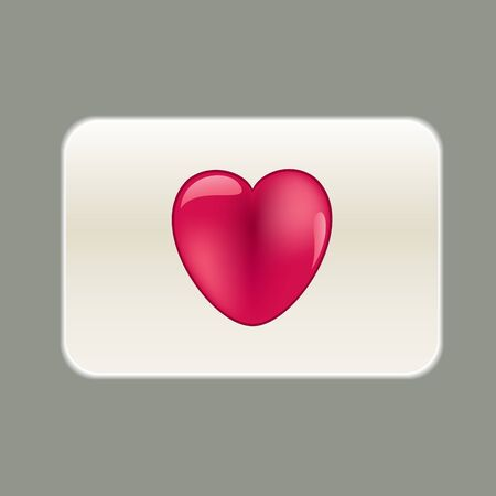 Blank card with red heart