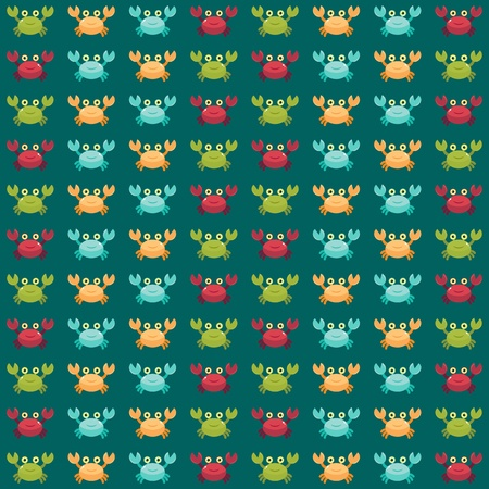 nipper: Seamless wallpaper. Funny cartoon crabs