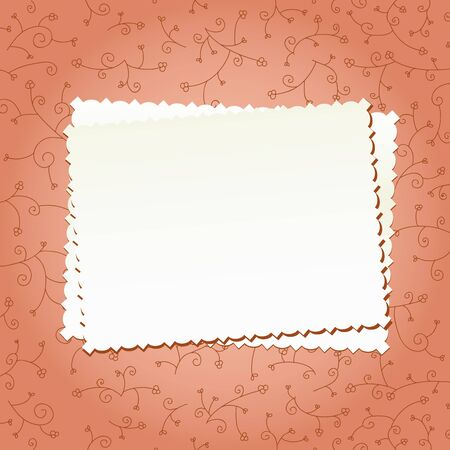 Clear decorative papers on a floral background Vector