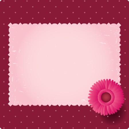 花とヴィンテージの空白の背景