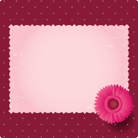 Vintage blank background with flower Vector